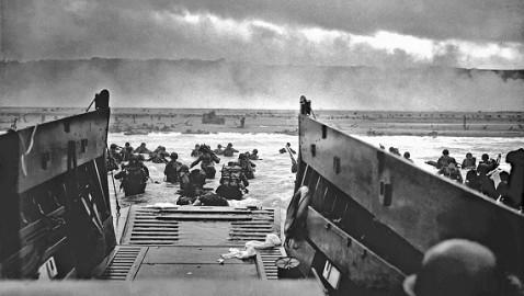 El desembarco en Normandía y España