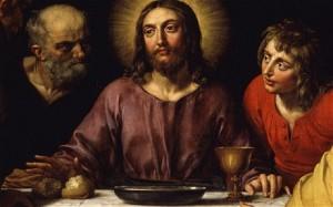 Jesús ora última cena