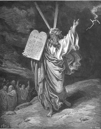 Moisés (grabado de G.Doré)