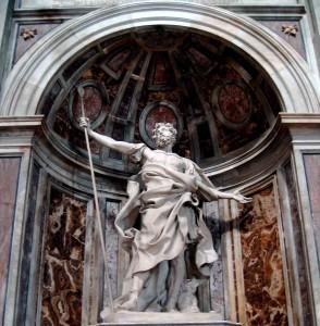 Bernini: San Longinos. Basílica de San Pedro. Roma