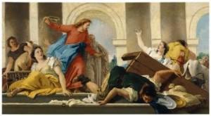 """Tiépolo: """"La expulsión de los mercaderes del templo"""" (1750-1753)"""