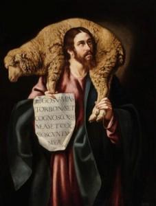 """Cristóbal García Salmerón (s.XVII): """"El Buen Pastor"""""""