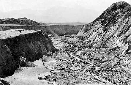 El cañón de Mount St. Helen´s, formado por un corrimiento de lodo en una tarde