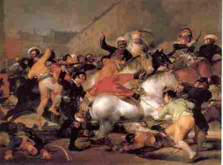 """Goya: """"La carga de los mamelucos"""""""