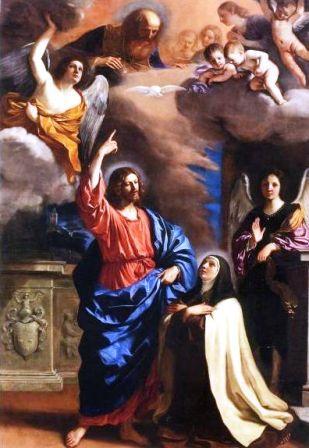 Aparición de Cristo a Santa Teresa (Guercino)