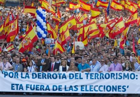 Manifestación Victimas Terrorismo
