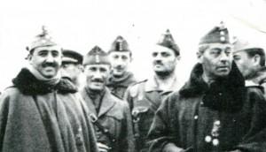 Franco, Balmes y otros militares