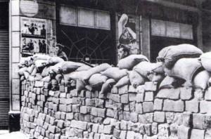Barricadas en Barcelona