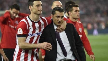 Valverde y Aduriz en la final de la Copa del Rey