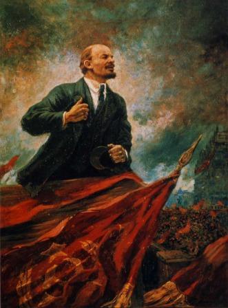 """Aleksandr Gerasimov: """"Lenin en el Rostrum"""""""