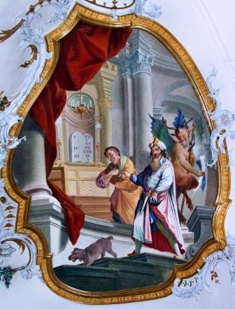 El fariseo y el publicano, Abadía de Ottobeuren