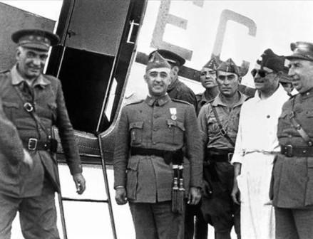 Franco llega a Sevilla