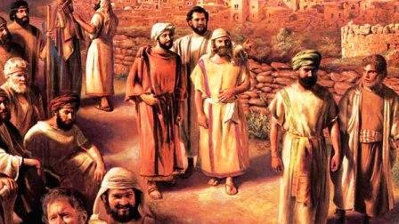 Jesus envia a los discipulos