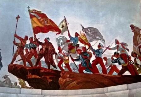 Los conflictos bélicos en los que Navarra participó principalmente en defensa de la Religión desde la guerra contra la Convención francesa (1793-95) hasta la última Cruzada. Gestos equilibrados y discretos, amables y artísticos, y desdeveladores de los grandes ideales. Foto: Vaquero