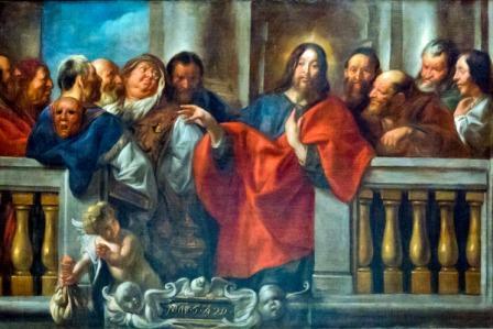"""Jacobo Jordaens: """"Cristo y los fariseos"""""""