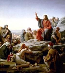 Jesus predicando sermon de la montaña