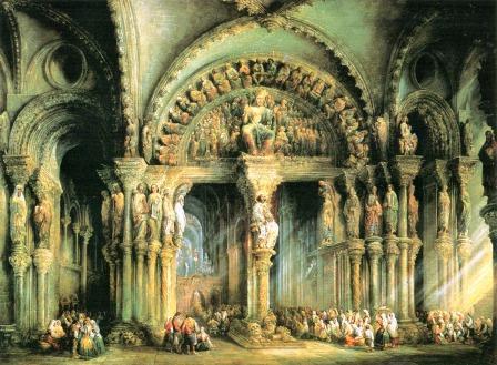 Jenaro Pérez Villamil: Santiago de Compostela, Pórtico de la Gloria (1849-1851)