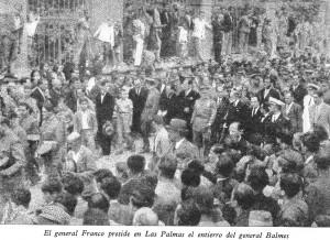 El general Franco preside en Las Palmas el entierro del General Balmes_ARRARÁS_IV_407