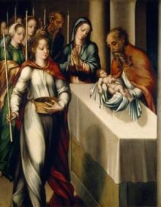 """Luis de Morales: """"Presentación de Jesús en el Templo"""""""