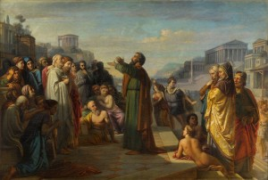 Predicación de San Pablo en Atenas