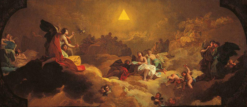 Adoración del nombre de Dios - Goya