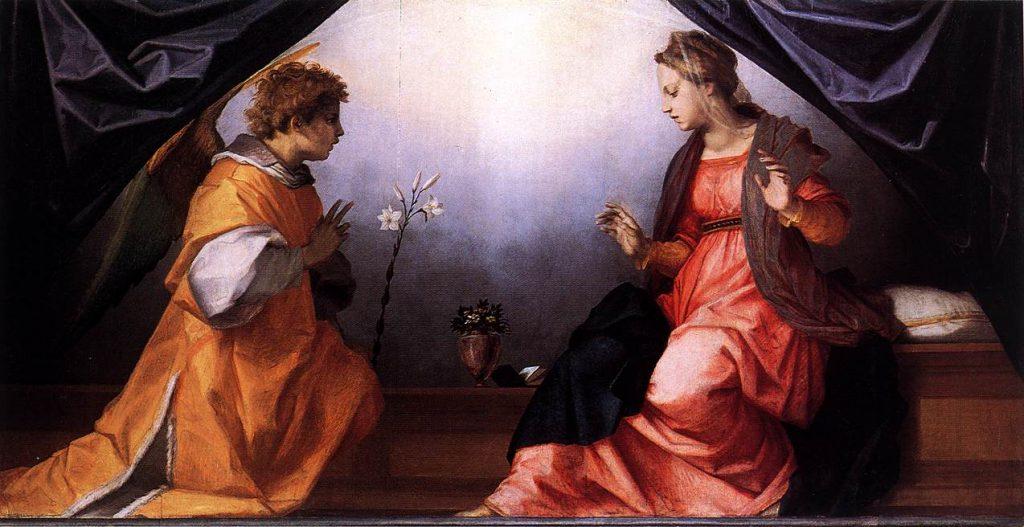 Anunciación - Andrea del Sarto