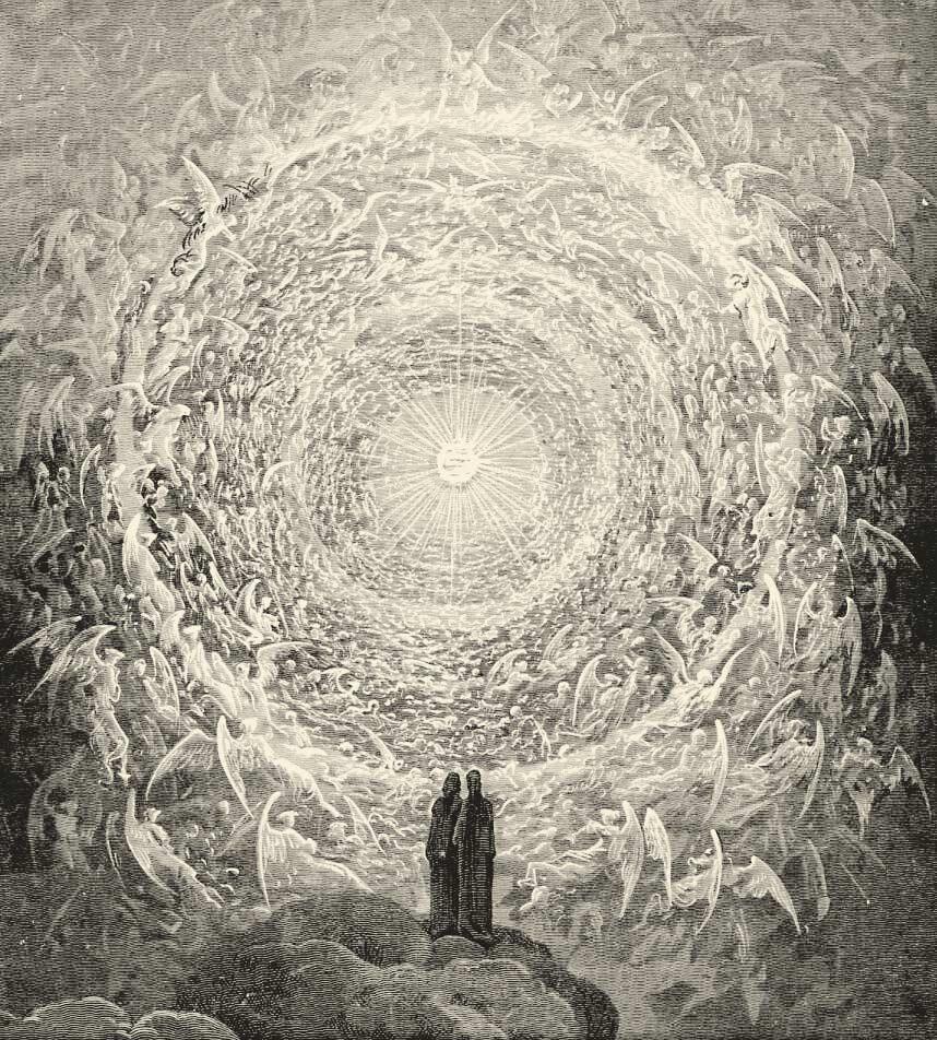 Dante paraiso visión beatífica divina comedia