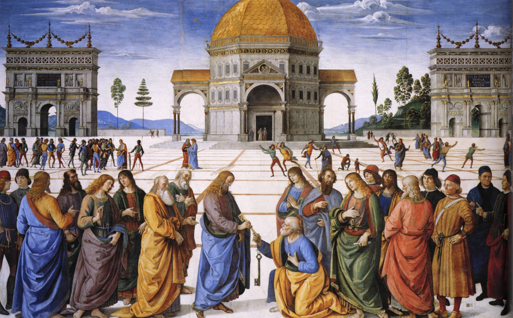 Entrega de las llaves a San Pedro - Perugino