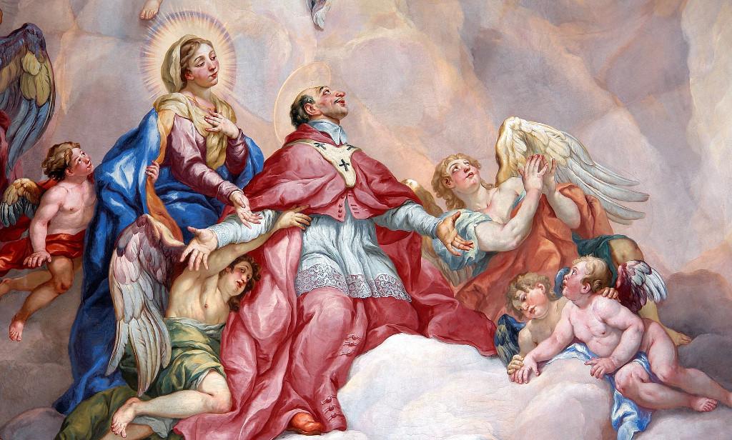 Intercesión San Carlos Borromeo ayudado por la Virgen María