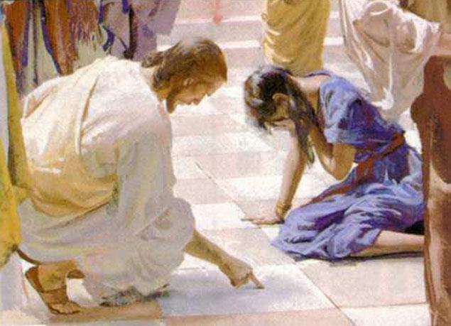 Jesús con la adúltera