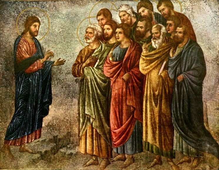 Jesús instruyendo a los apóstoles