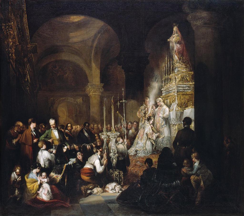 Misa solemne en una iglesia andaluza - Cruzado