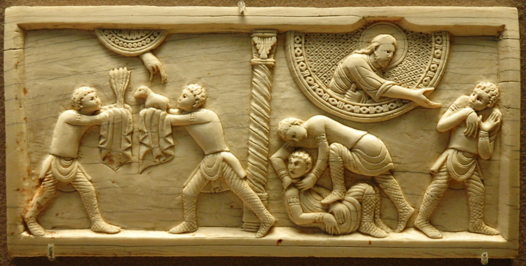 Tablilla paleocristiana Cain y Abel