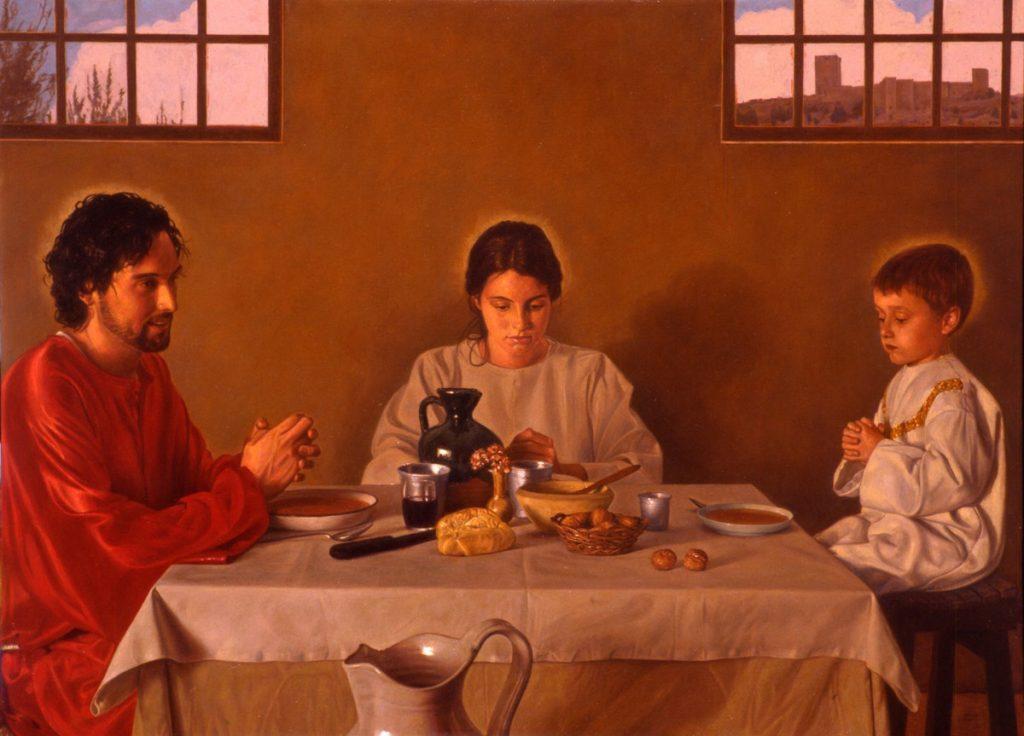 sagrada familia - bendición de la mesa