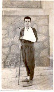 Víctor Sierra, después de ser evacuado del Frente Ruso: Hospital de Vista Alegre, Madrid, mayo-1943