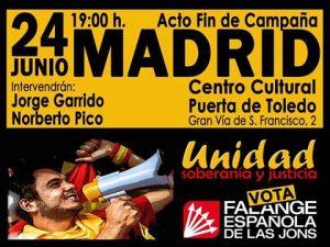 Acto público Falange Española de las JONS