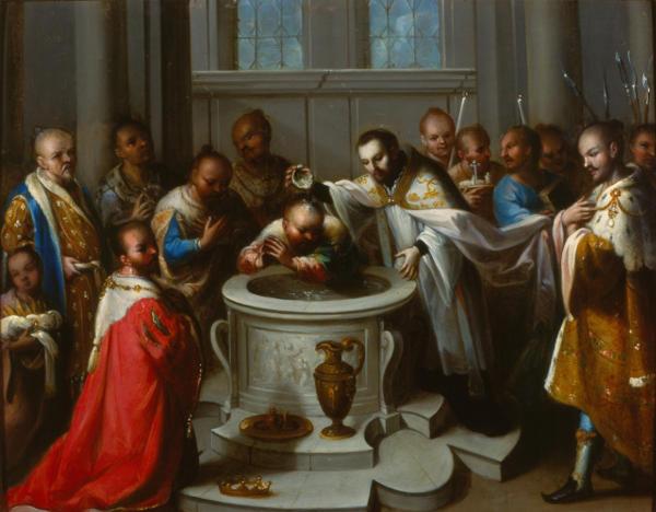 San Francisco Javier bautizando a los infieles