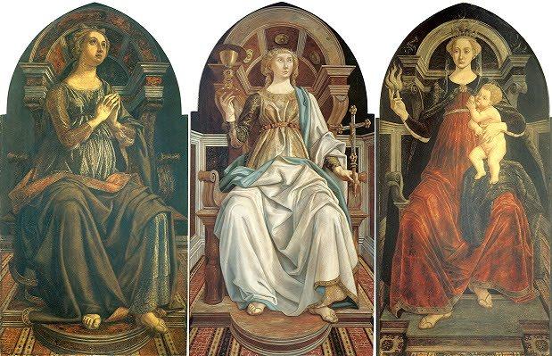 esperanza-fe-caridad-virtudes-teologales-piero-pollaiolo