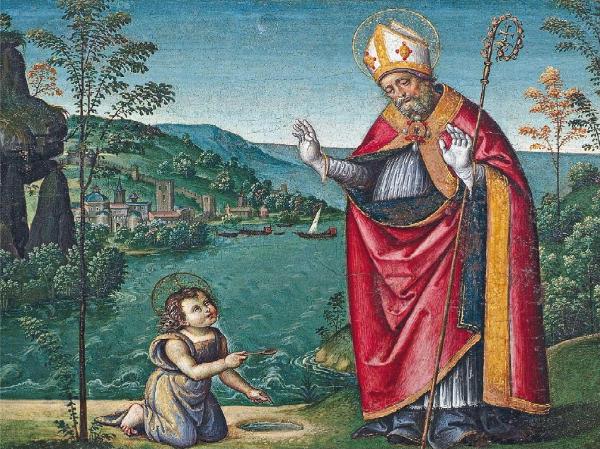 San Agustín y el Niño