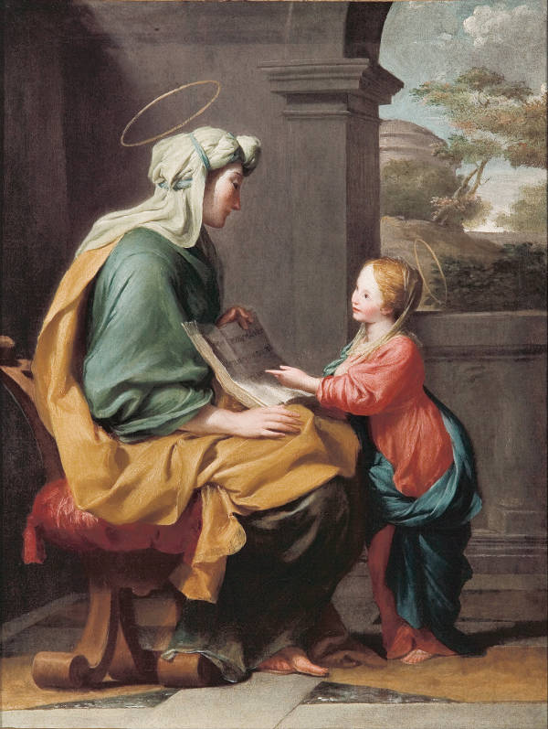 Educación de la Virgen. Giovanni Romanelli.