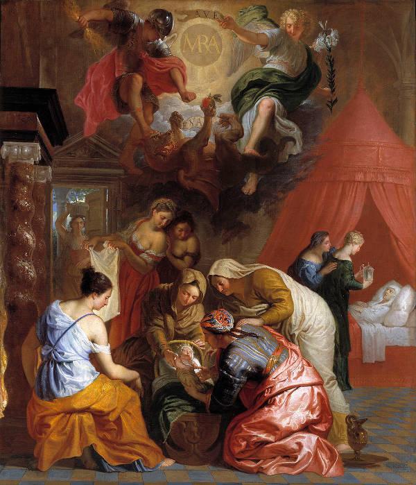 El nacimiento de la Virgen. Erasmus Quellinus.