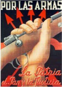 Por las armas la Patria el pan y la justicia_Cartel Falange