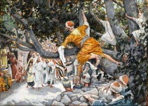 James Tissot: Zaqueo en el Sicomoro esperando el paso de Jesús (Brooklyn Museum)